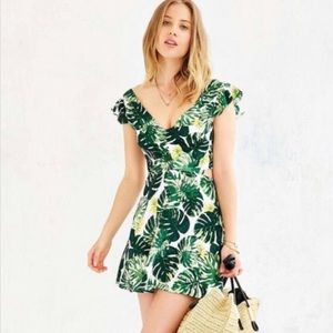 For Love and Lemons Palm Print dress